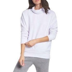 Zella Erica Twist Cowl Neck Pullover Sweatshirt